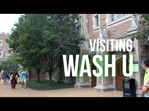 VISITING WASH U & TOURING ST. LOUIS