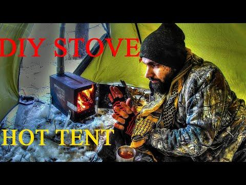 Hot tent diy wood stove  (re-edit)