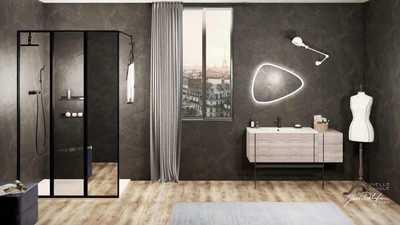 nouvelle vague la paroi de douche verri re youtube. Black Bedroom Furniture Sets. Home Design Ideas
