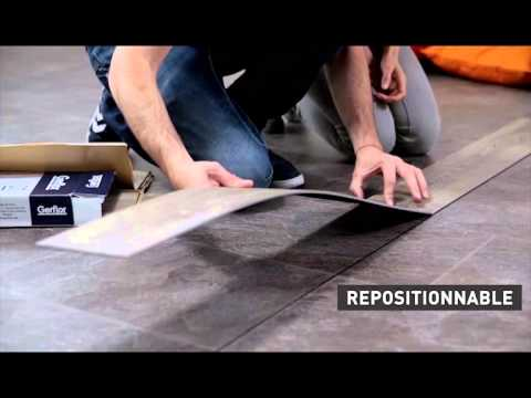 Lame Vinyle Repositionnable Gerflor Senso Adjust Presentation Et Pose Du Produit Youtube