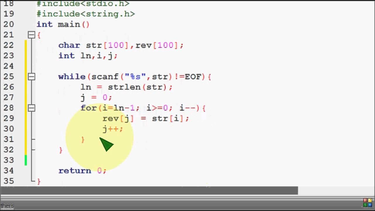Palindrome String C Program