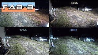 Comparatif ampoules Xénon D1S 4300K vs 6000K vs 8000K