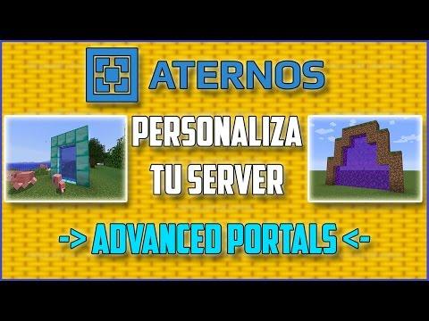 ATERNOS !! Descargar Y Usar ADVANCED PORTALS - Personaliza Tu Server [2017][Full]   Español