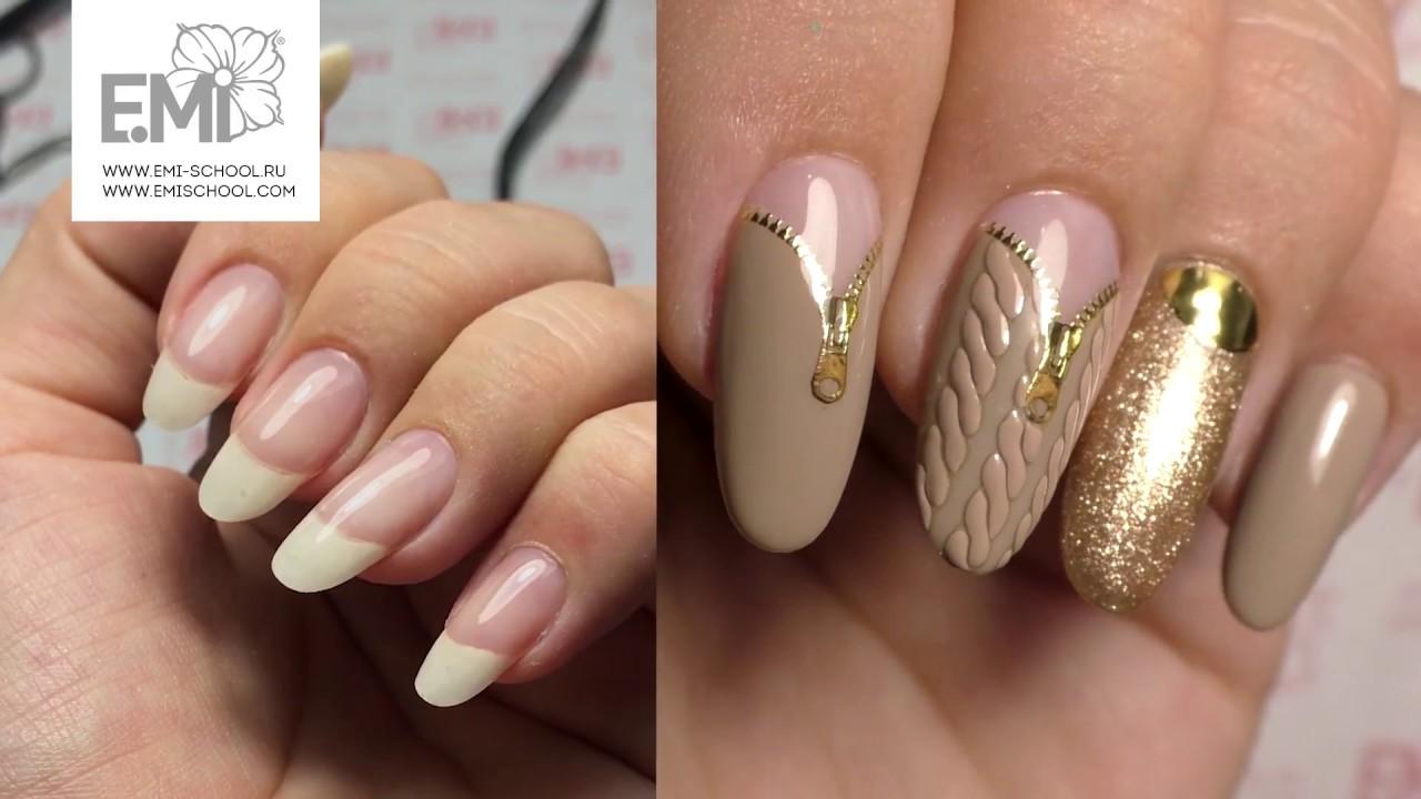дизайн ногтей на своих руках вязаный маникюр Youtube