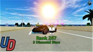 Rank 267 on Ultimate Driving Roblox (3 diamond stars)