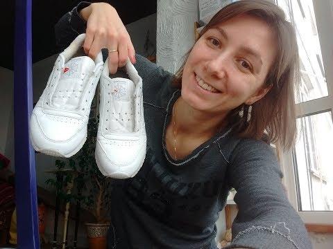 Как отмыть белые кроссовки и вернуть белоснежный цвет, белые кеды, краска для обуви\ ЛАЙФХАК