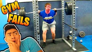 Reacting to FUNNY Gym FAILS 😂