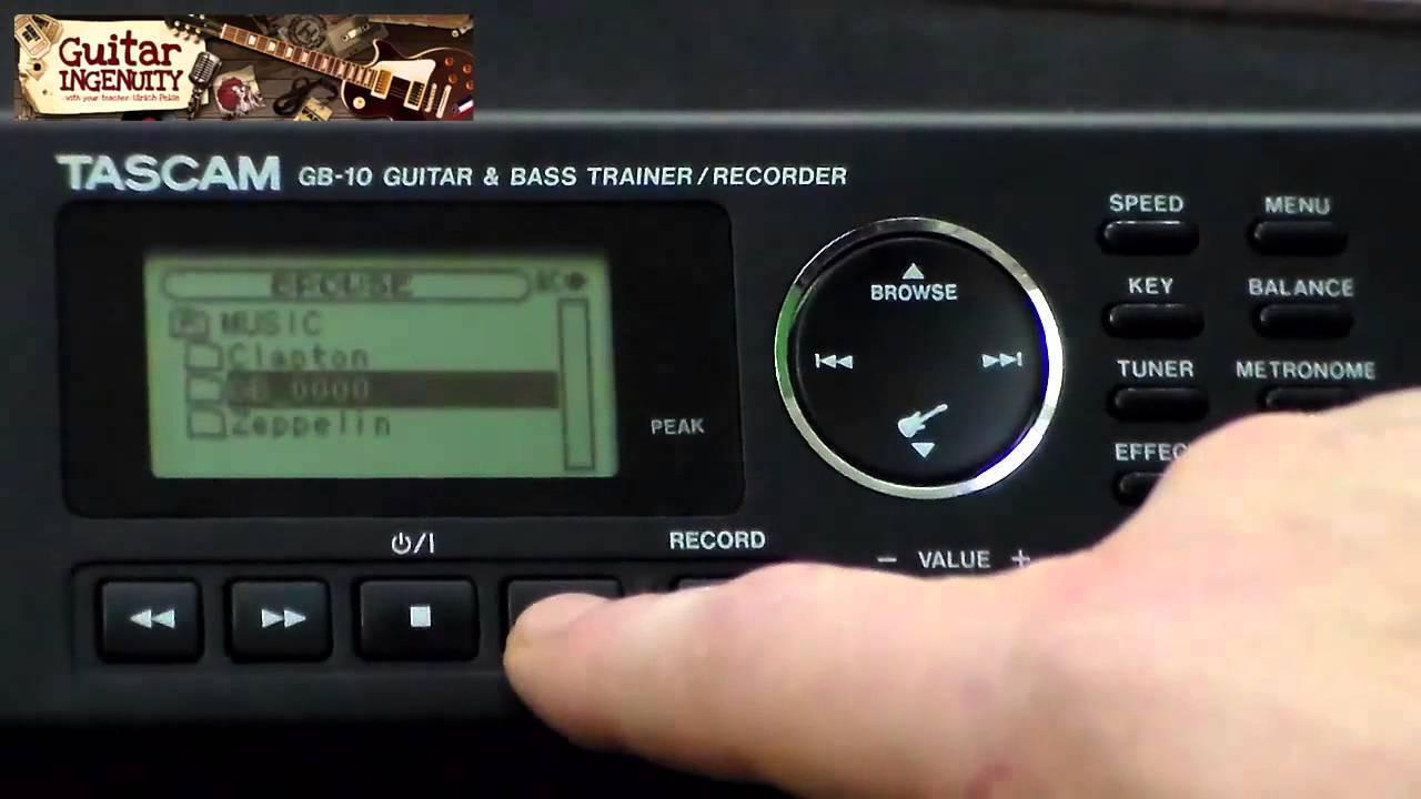 TASCAM GB-10 GUITAR /& BASS TRAINER RECORDER 32GB SD SDHC MEMORY CARD UPGRADE