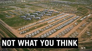 The Boneyard - What Happens to All Those Airplanes? #shorts