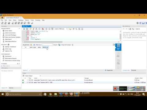 Tutorial 1: Creating tables in MySQL