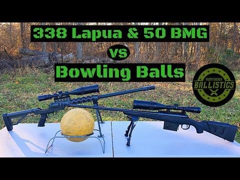 338 Lapua & 50 BMG vs Bowling Balls
