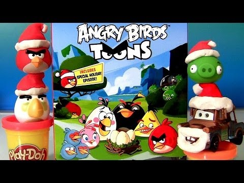 Play Doh Angry Birds BluRay  Christmas Ornaments Play Dough Red