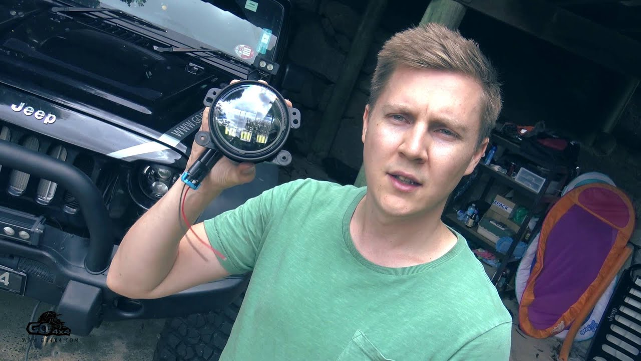 Jw Speaker 6145 Led Fog Lights Vs Stock Test Install Soldering Wiring Auxiliary Jeep And On Jk Youtube