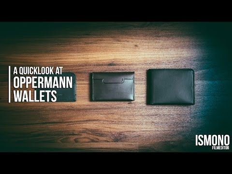 A Quicklook at Oppermann London's Wallets