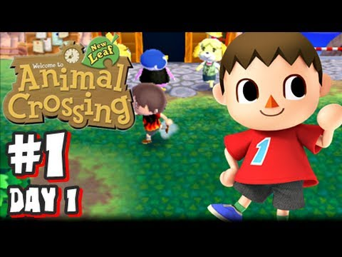 Animal Crossing New Leaf: (1080p) - Part 1 - Day 1