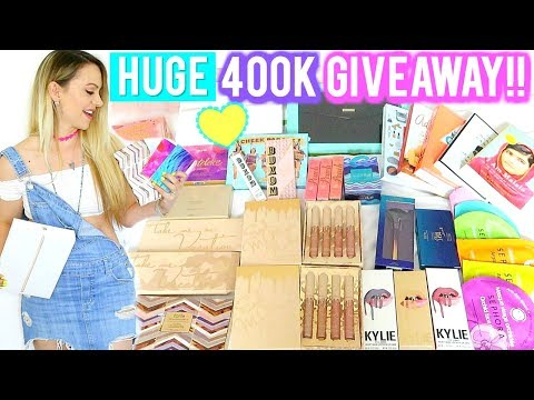 HUGE 400K Giveaway 2017!! Apple iPad, Kylie, Tarte Cosmetics, Back to School | Ask Kimberly