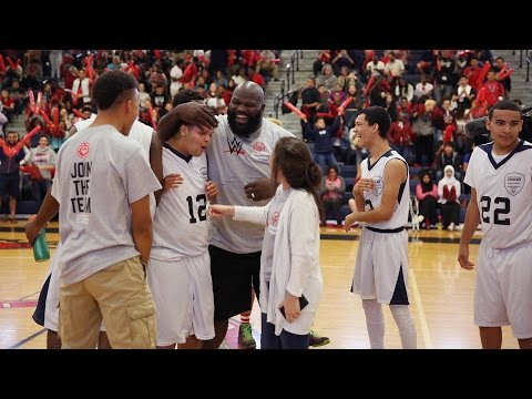 WWE participates in Special Olympics Unified basketball game