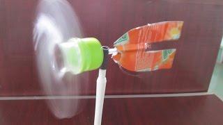 Comment faire un moulinet en utilisant bouteille en plastique | Faire jouet