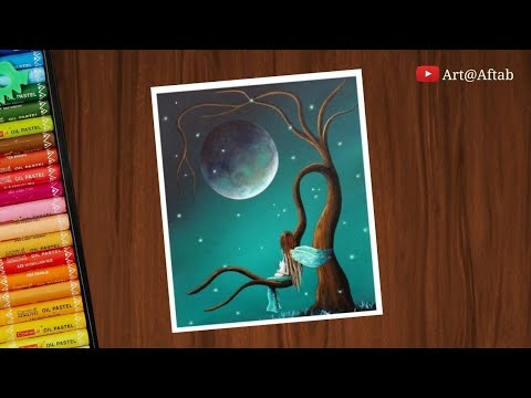 oil-pastel-drawing-||-dream-scenery-5-with-oil-pastels---step-by-step