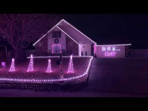 Jennie James - Gender Reveal Using Christmas Lights