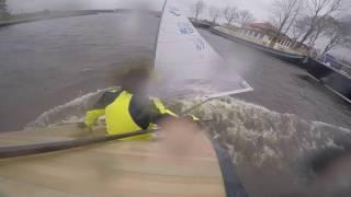 Finn sailing in 50 knots of wind!