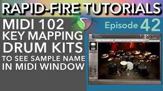 Mapping Drum Kits & Keyswitches to Piano Roll (Rapid-Fire Reaper Tutorials Ep42)