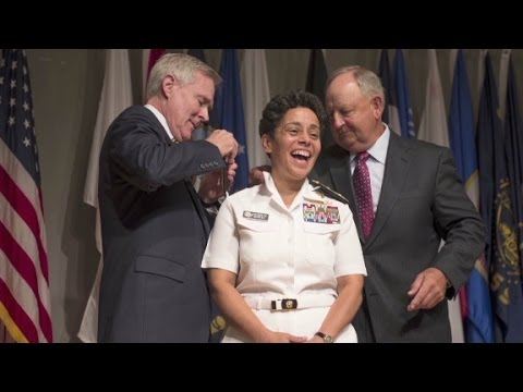 Navy honors first female four-star officer