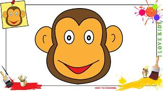 a monkey face drawing lesson