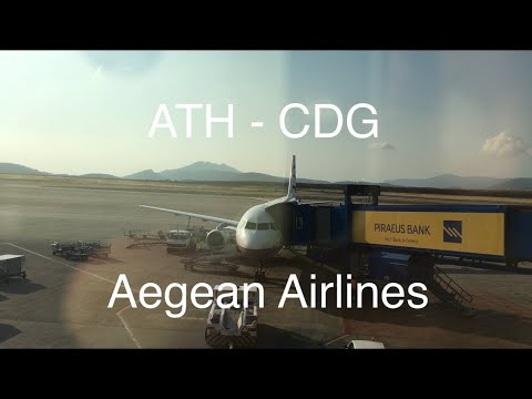 Trip Report   Aegean Airlines   ATH-CDG   Economy Class