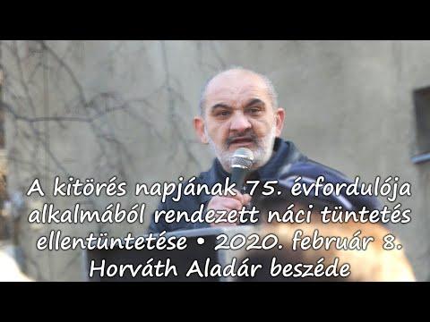 A Kitörés Napja – Ellentüntetés – Horváth Aladár Beszéde