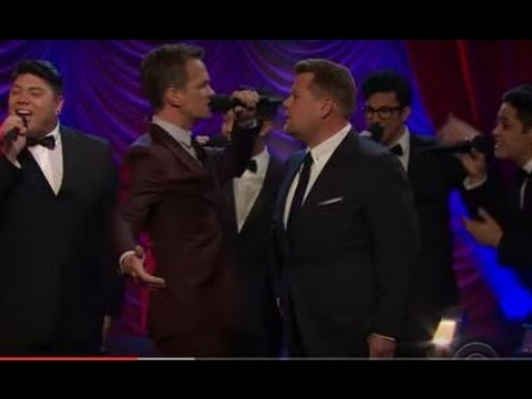 Neil Patrick Harris and James Corden face off in epic Broadway musical riff-off