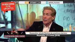 (Floyd Mayweather) Didn't Deserve the Win Against Maidana - ESPN First Take  5/6/14