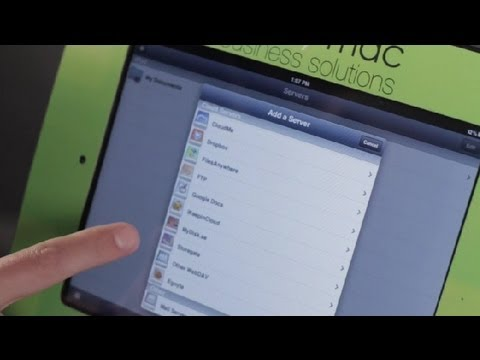 How can i set up email folders on my ipad