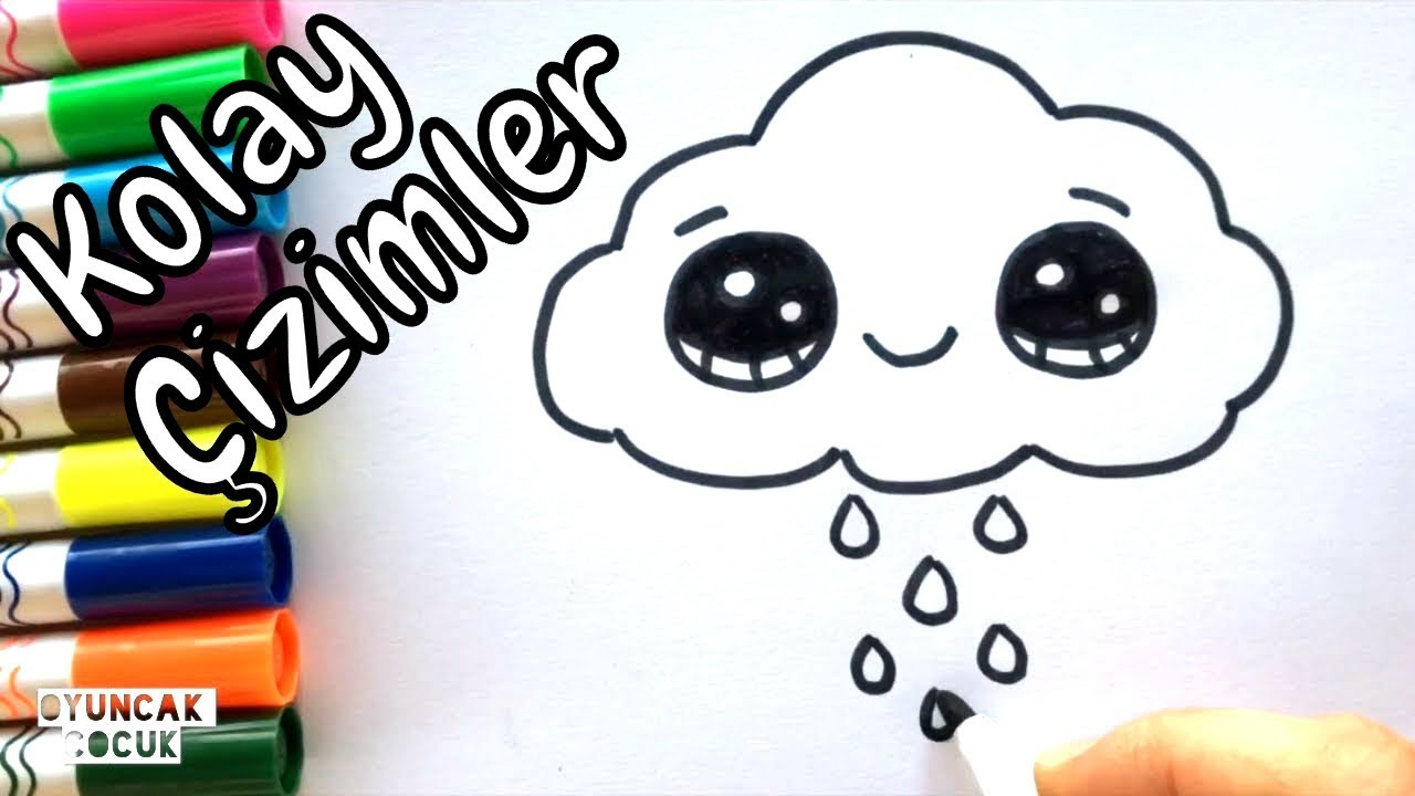 Kolay Cizimler Sevimli Bulut Cizimi Resim Cizimleri Youtube