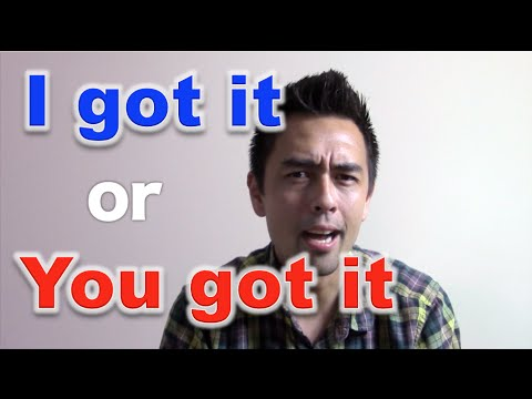 i got it と you got it を使いこなそう 32 youtube