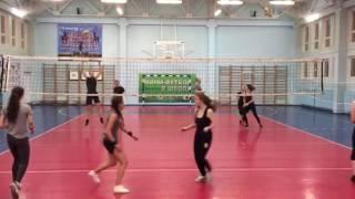 Видео с тренировки по волейболу начального уровня
