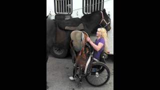 Amberley Snyder: Wheelchair Wednesday #4: Saddling my horse