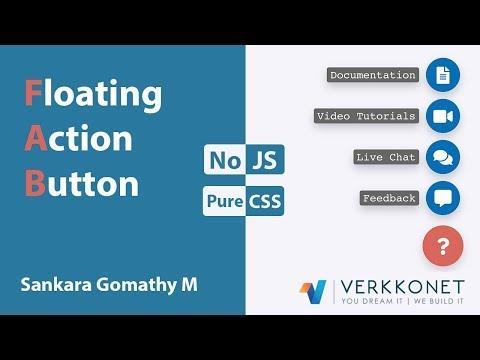 Floating Action Button In CSS   CSS Tutorials   Web Development Tutorials