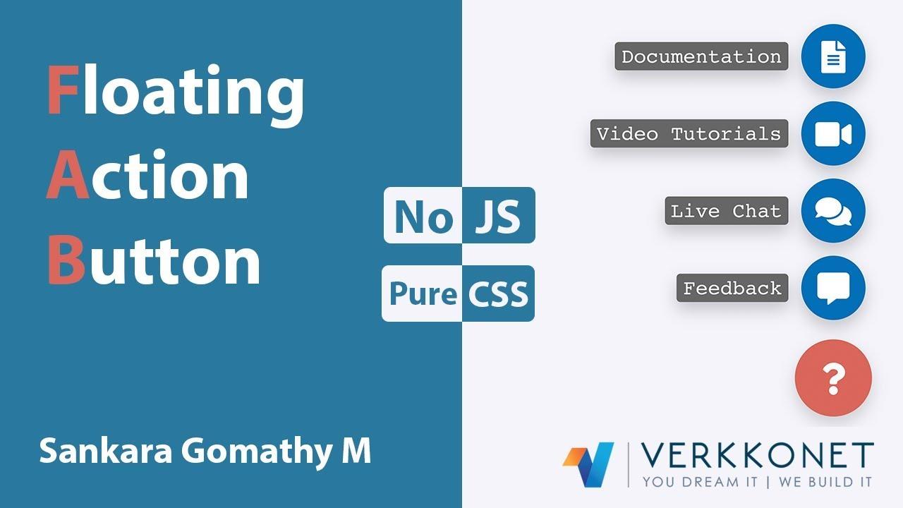 Floating Action Button in CSS | CSS Tutorials | Web Development Tutorials