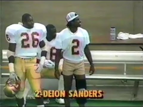 Deion Sanders injured for Tulane 1988