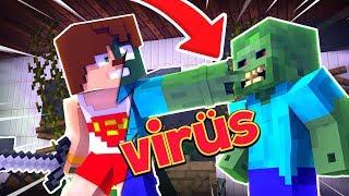YAKALANIRSAN ZOMBİ VİRÜSÜ KAPARSIN - Minecraft