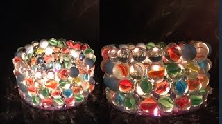 DIY Glass Marble Candle Holder