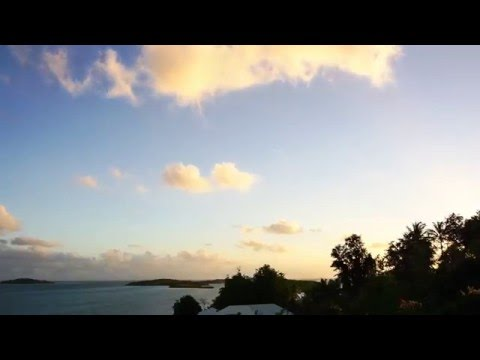 Before the sunrise in Martinique (HD timelapse) View from Fregate Bleue