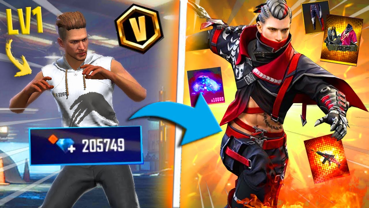 18.000 DIAMONDS 😱😱 on *NEW ACCOUNT* - watch how *PRO* it became 😱🔥