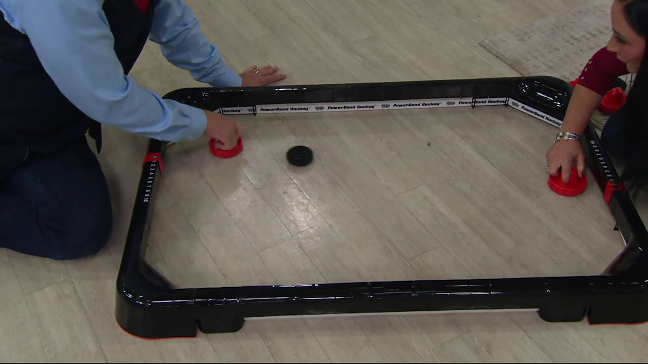 Face Off Frenzy Portable PowerBand Air Hockey Game On QVC