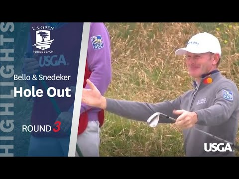 2019 U.S. Open, Round 3: Bello and Snedeker Consecutive Hole-Outs