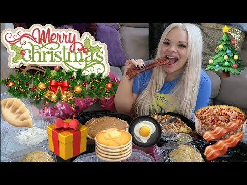 CHRISTMAS MORNING BREAKFAST EATING SHOW! | DON'T EAT ALONE (EAT WITH ME)