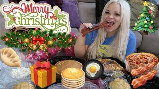 CHRISTMAS MORNING BREAKFAST EATING SHOW!   DON'T EAT ALONE (EAT WITH ME)