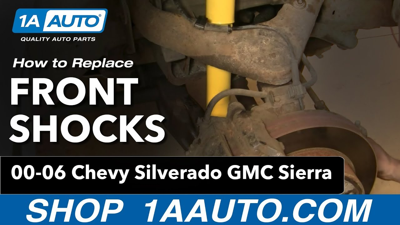 how to replace front shocks 01 10 gmc sierra 2500 hd youtube rh youtube com