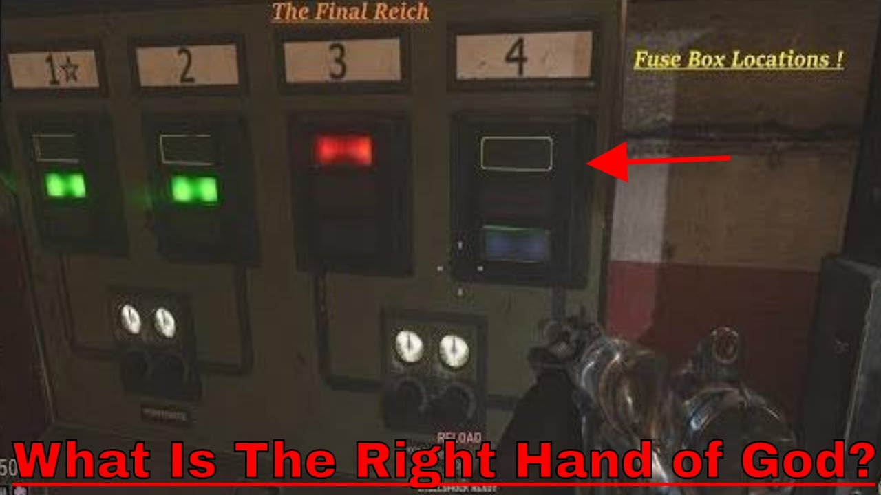 Call of Duty WWII The Final Reich °Right hand of God°📟 🔌Fuse Fuse Box Zombies Black Ops on